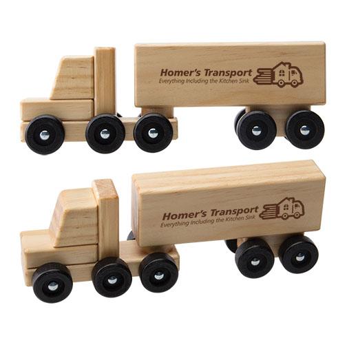Wooden Semi Truck